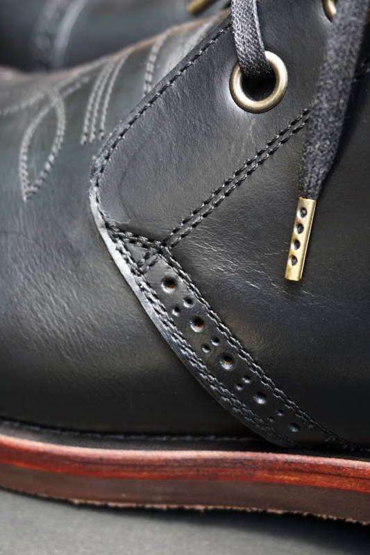 Basella×R&B×TRUCK CHUKKA BOOTS BLACK