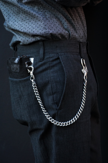 GANGSTERVILLE×galcia WALLET - CHAIN 45cm SWALLOW SILVER