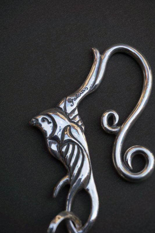 GANGSTERVILLE×galcia KEYHOLDER SWALLOW SILVER