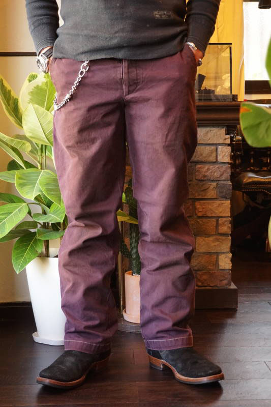 BY GLAD HAND FACTORY - PANTS BURGUNDY