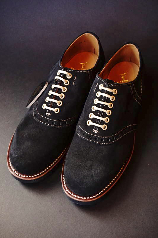 GLAD HAND × REGAL SADDLE SUEDE - SHOES BLACK