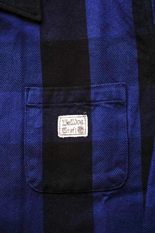 B.S.M.G. CHECK - L/S SHIRTS BLUE