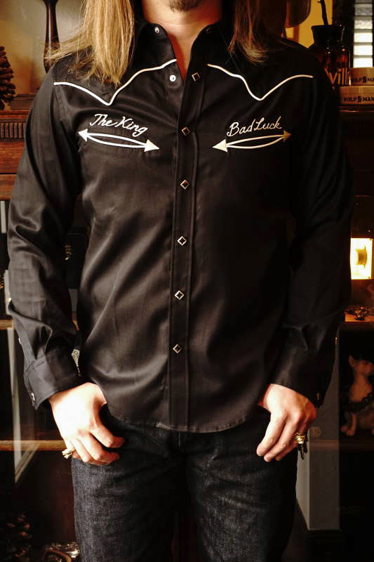 GANGSTERVILLE BAD LUCK - L/S SHIRTS BLACK