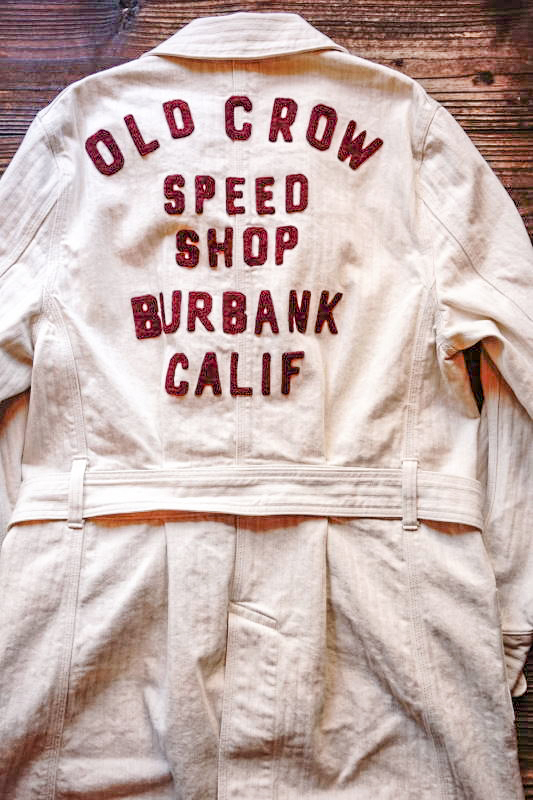 OLD CROW SPEED SHOP - COAT ※LONG IVORY