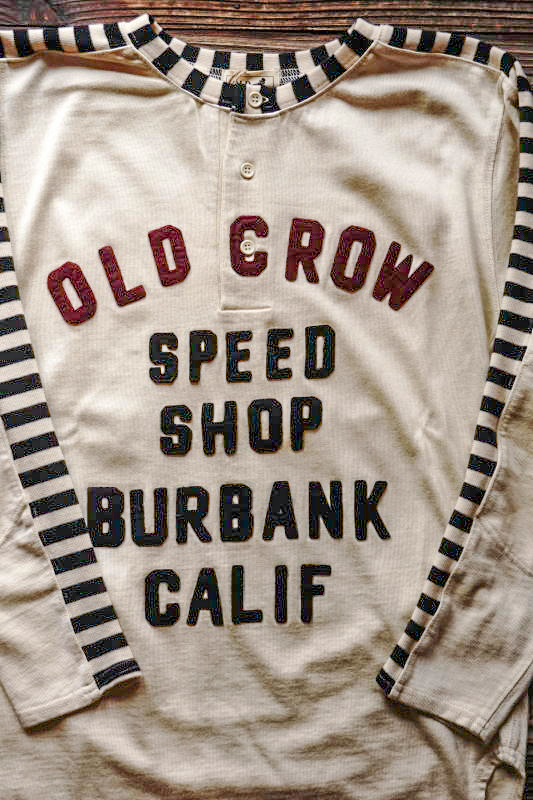 OLD CROW MOTORCYCLE - L/S T-SHIRTS IVORY