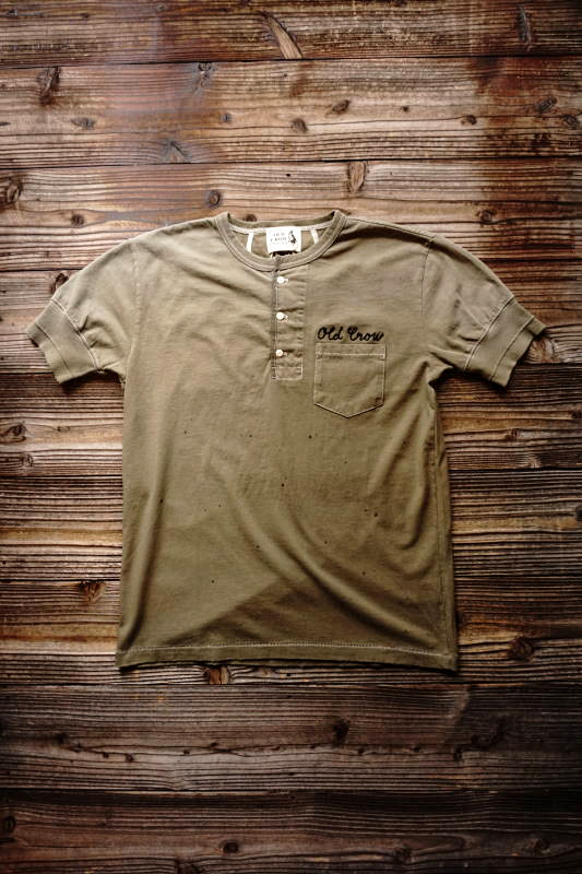 OLD CROW 1933 - S/S HENRY T-SHIRTS KHAKI