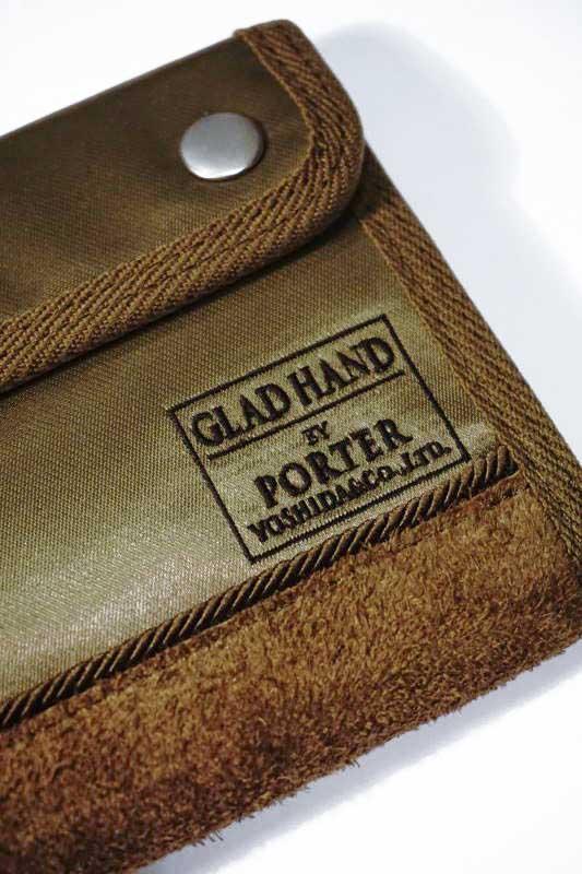 GLAD HAND×PORTER GH - FADE WALLET SHORT KHAKI