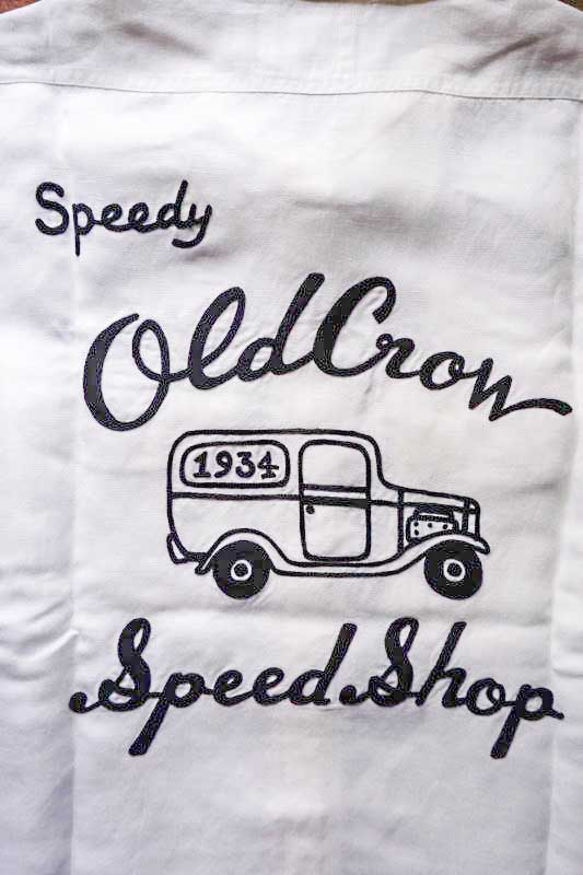OLD CROW WHISKEY DELIVERY - S/S SHIRTS WHITE
