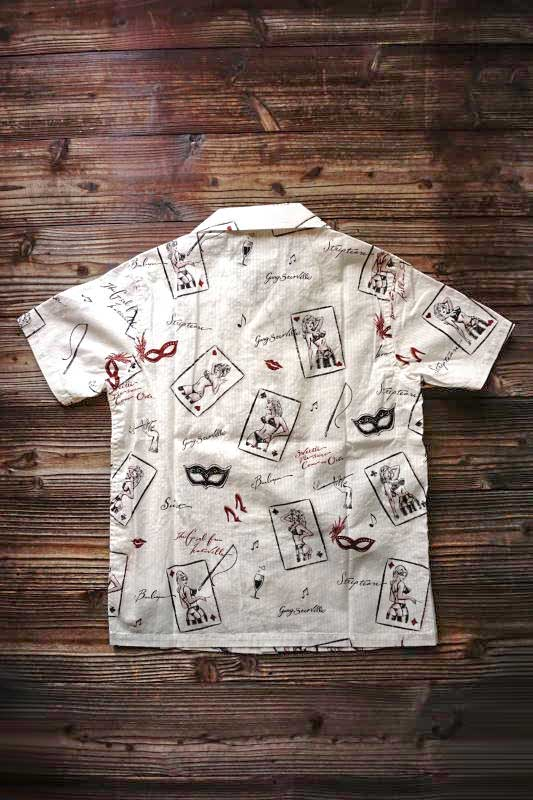 GANGSTERVILLE THUG QUEEN - S/S SHIRTS IVORY