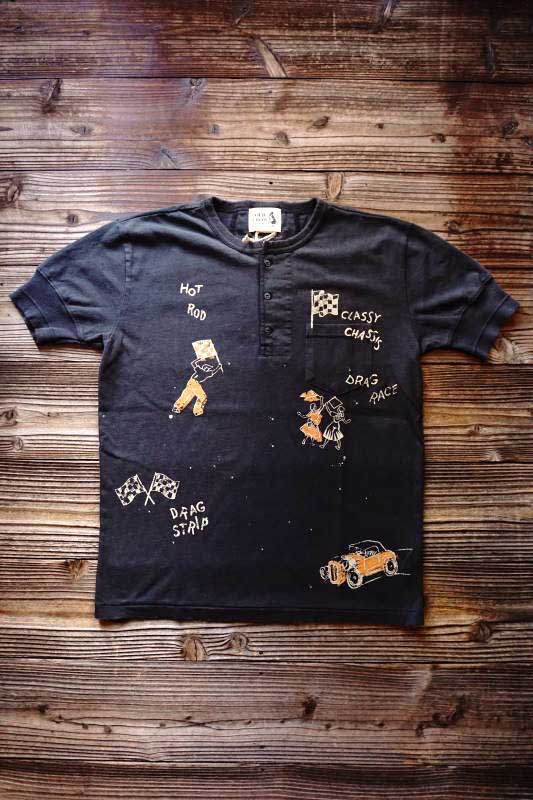 OLD CROW SPEED RACE - S/S HENRY T-SHIRTS BLACK