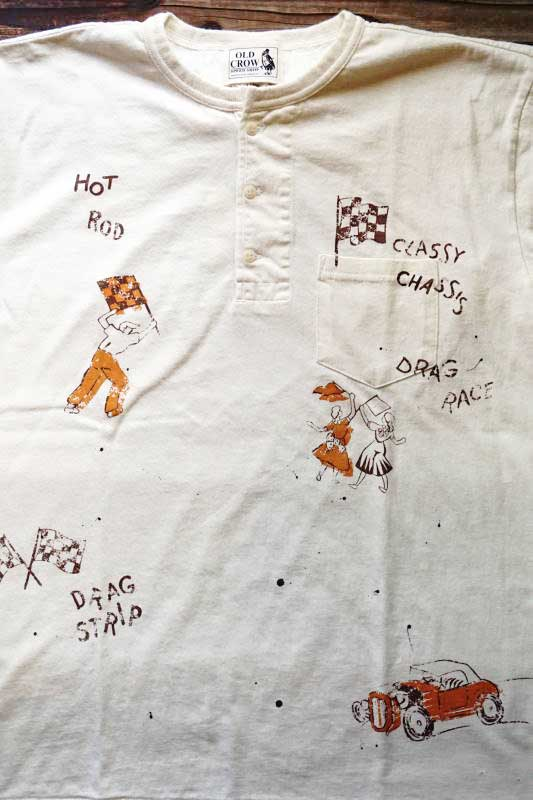 OLD CROW SPEED RACE - S/S HENRY T-SHIRTS WHITE