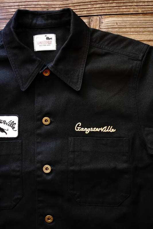 GANGSTERVILLE GREASER - S/S SHIRTS BLACK