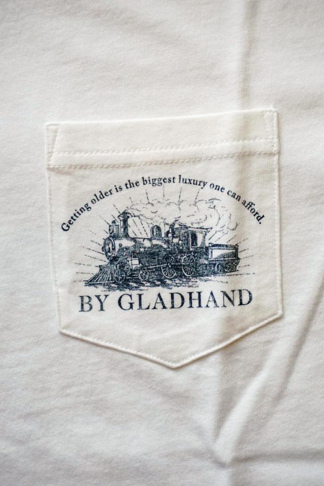 BY GLAD HAND POSTAL FLIGHT - V NECK S/S T-SHIRTS WHITE