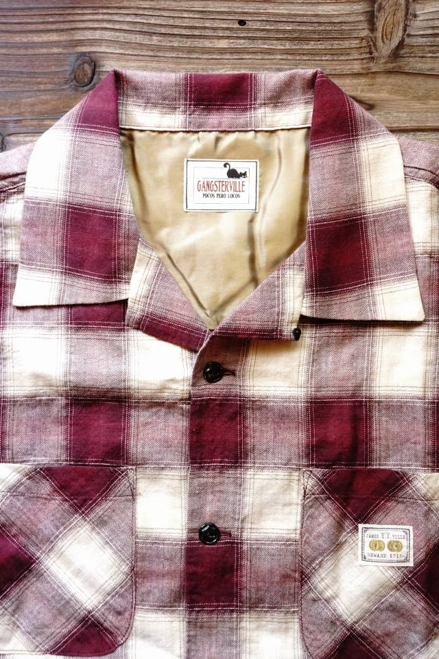 GANGSTERVILLE JAMES - S/S SHIRTS BURGUNDY