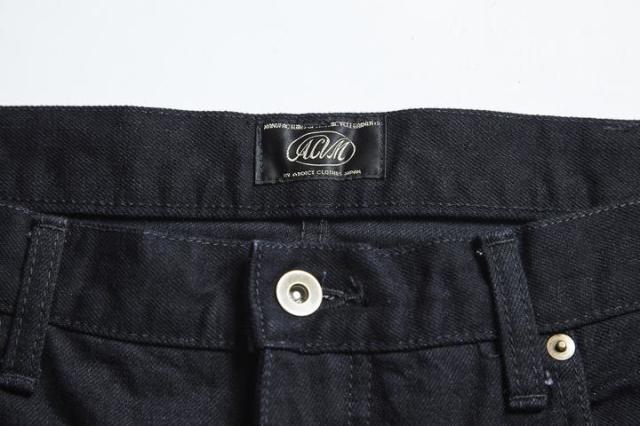 ADDICT CLOTHES JAPAN ACV-P01 TAPERED DENIM BLACK