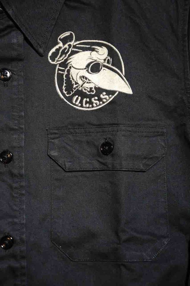 OLD CROW CROW OFFICERS - L/S SHIRTS BLACK
