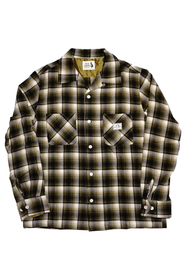 OLD CROW CHECK - L/S SHIRTS GREEN