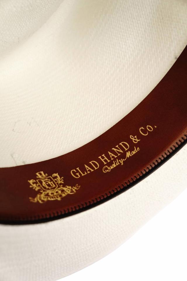 GLAD HAND & Co. -  HAT MEDALLION WHITE