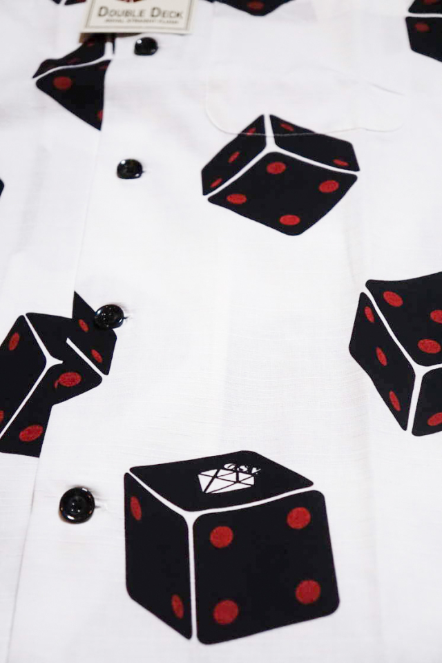 GANGSTERVILLE TUMBLING DICE - S/S SHIRTS WHITE