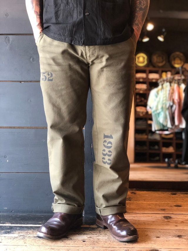 OLD CROW OLD RODDER - CHINO PANTS OLIVE