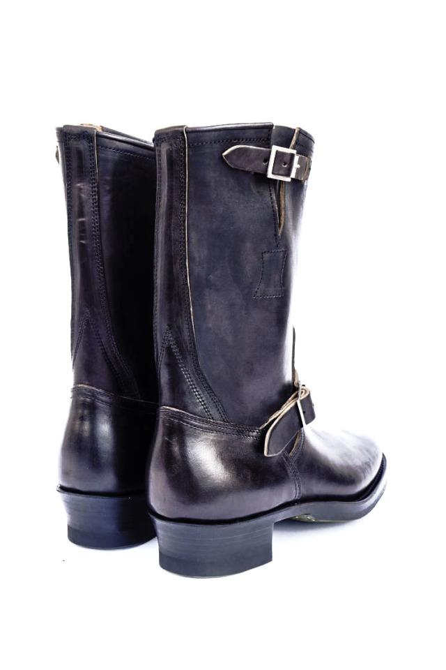 CLINCH Engineer boots Horsebutt overdye BLACK
