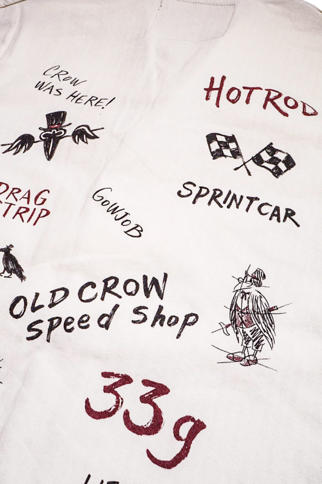 OLD CROW HOTROD CLUB - JACKET IVORY