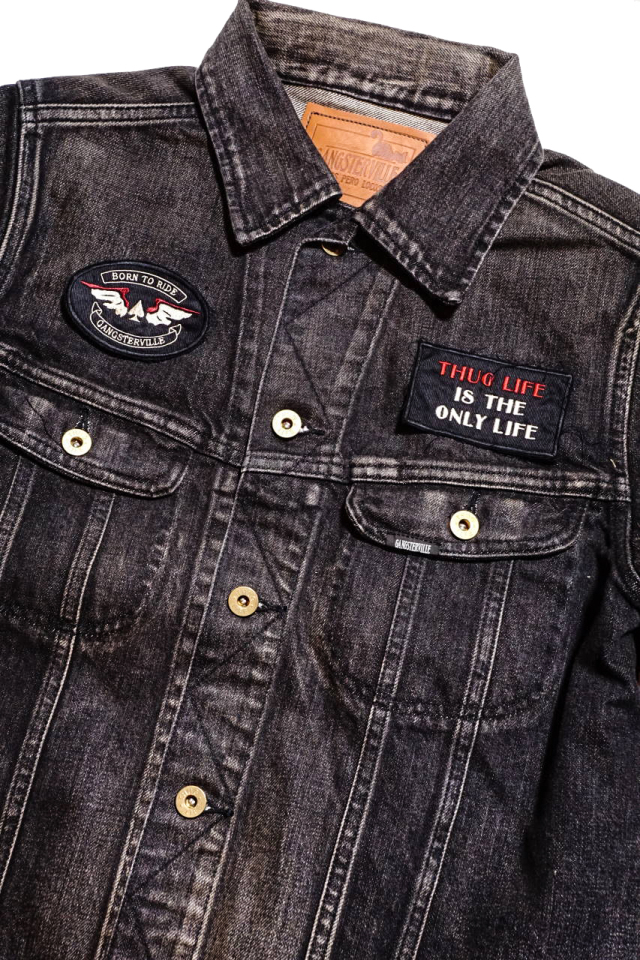GANGSTERVILLE THUG RIDE - DENIM JACKET BLACK