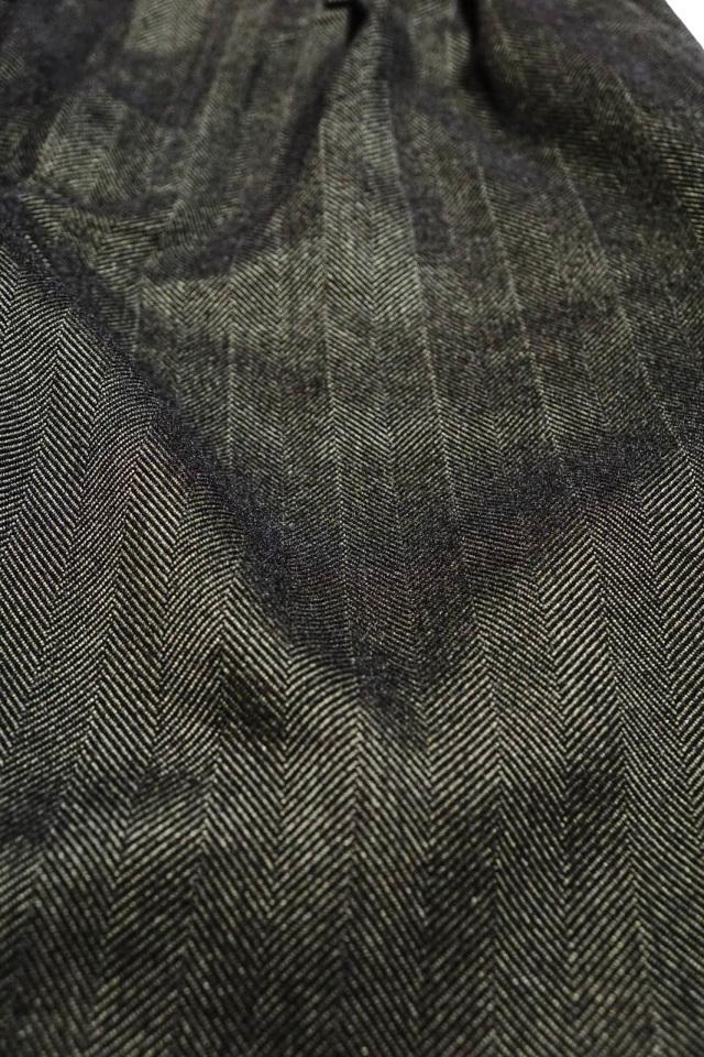 ANDFAMILYS CO. WOOLY TWEED HERRINGBONE PANTS MG