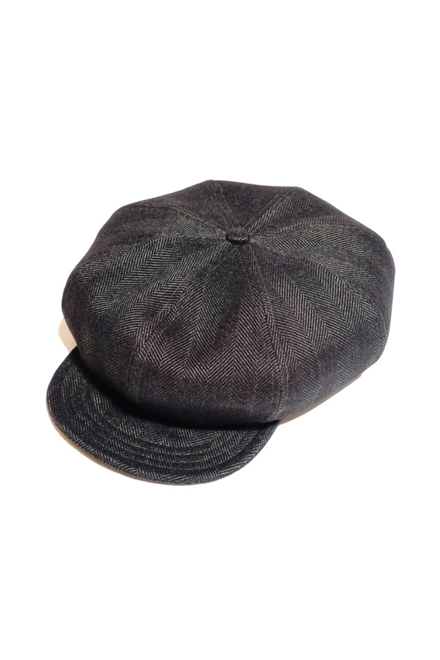 ANDFAMILYS CO. WOOLY TWEED HERRINGBONE CASQUETTE
