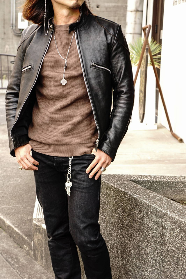 ADDICT CLOTHES JAPAN ACVM PADDED WAFFLE COTTON KNIT WALNUT