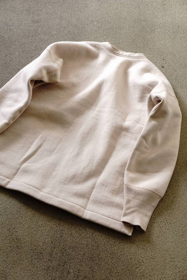 Olde Homesteader US013 Cotton Fleece Opend Front Long Sleeve PARCHMENT