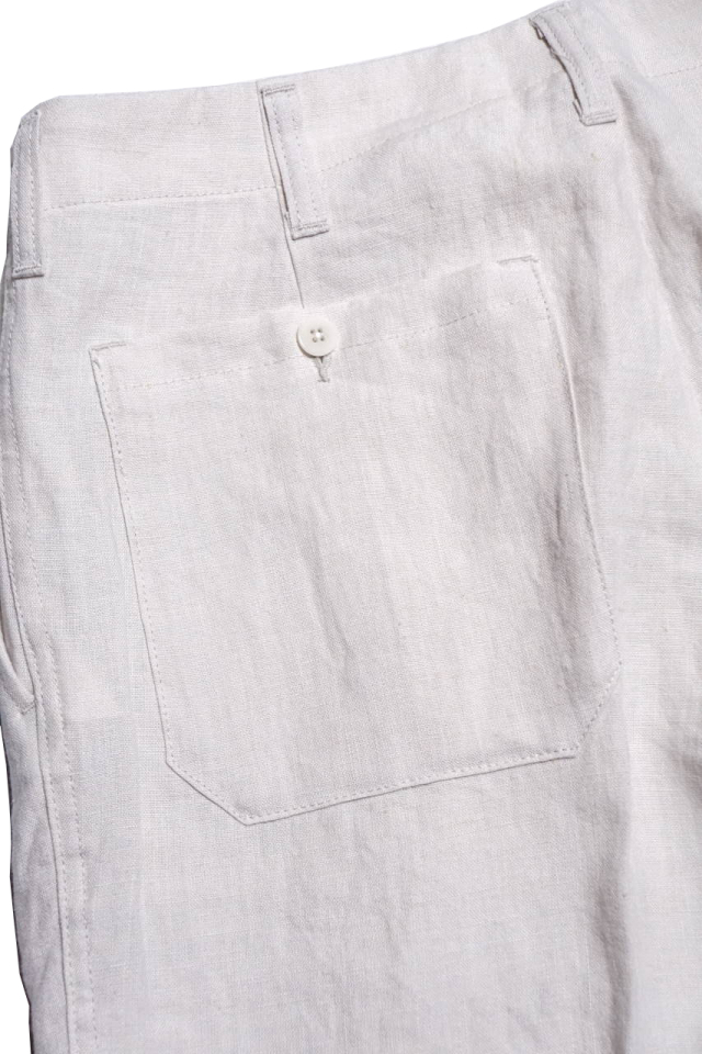 BY GLAD HAND SMOKING - LINEN TROUSER IVORY