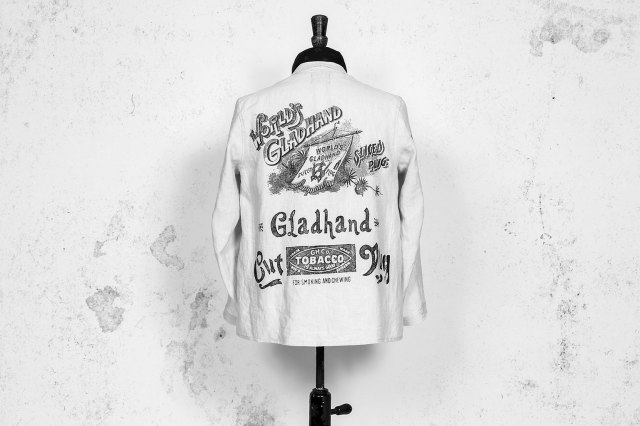 BY GLAD HAND FOR SMOKING - LINEN JACKET IVORY