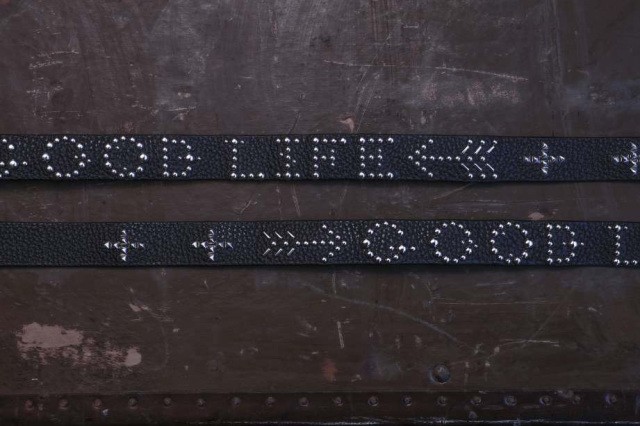 Peanuts & Co. Leather studs belt