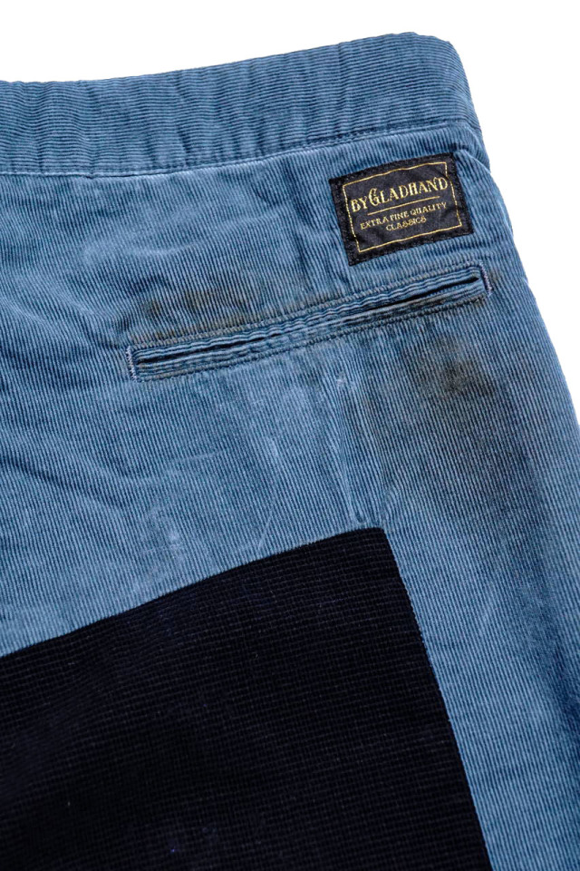 BY GLAD HAND GLADDEN - CORDUROY PANTS BLUE