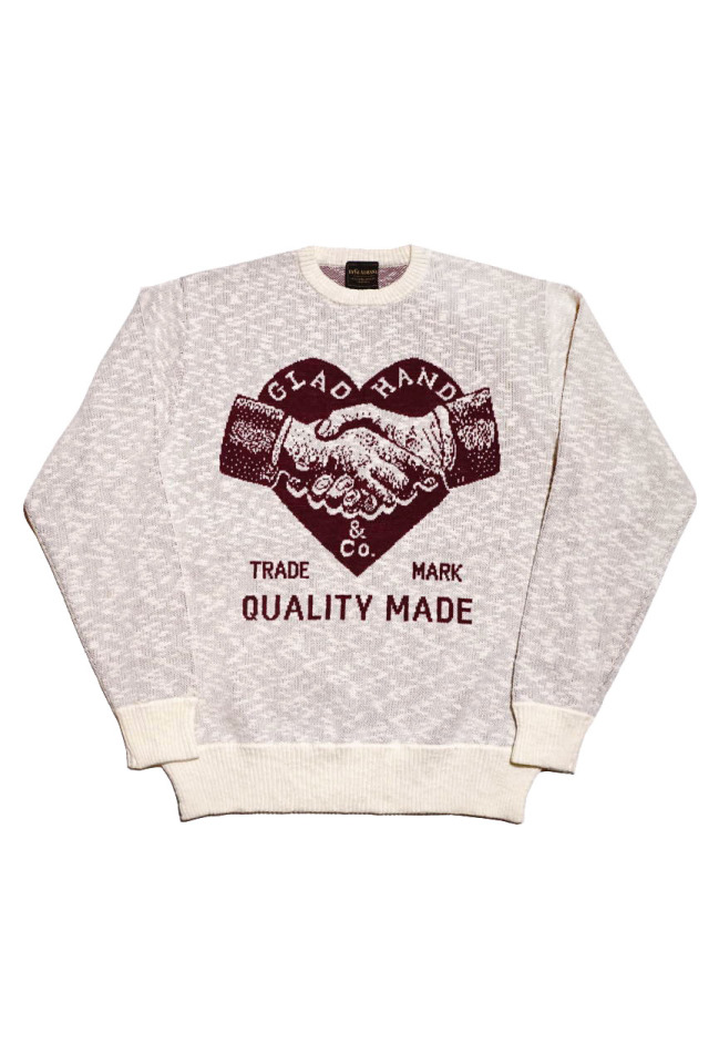 BY GLAD HAND HEARTLAND - L/S KNIT SWEATER IVORY