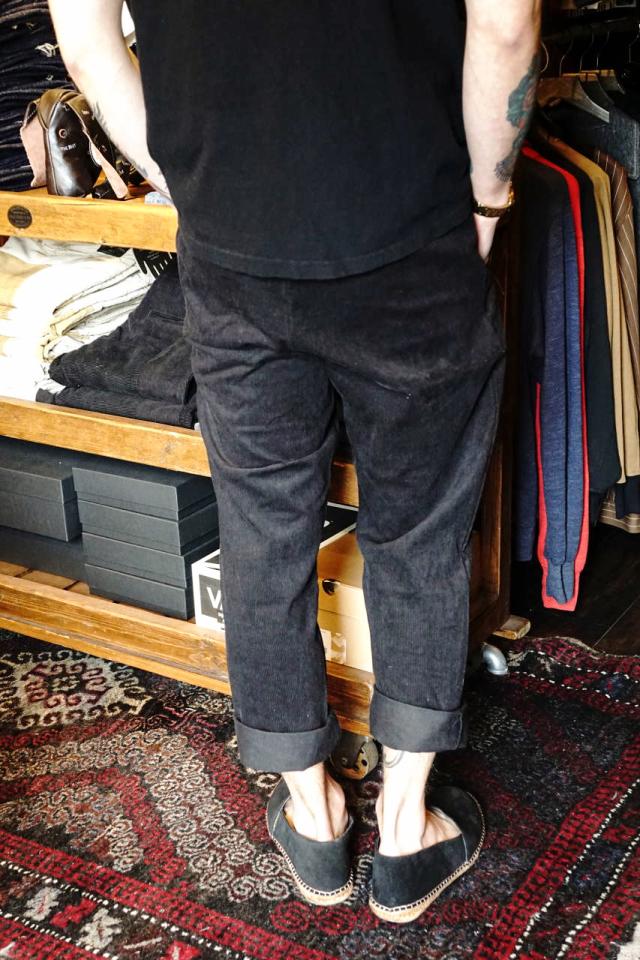 BY GLAD HAND GLADDEN - CORDUROY PANTS BLACK