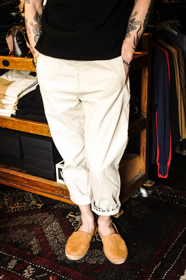 BY GLAD HAND GLADDEN - CORDUROY PANTS BEIGE