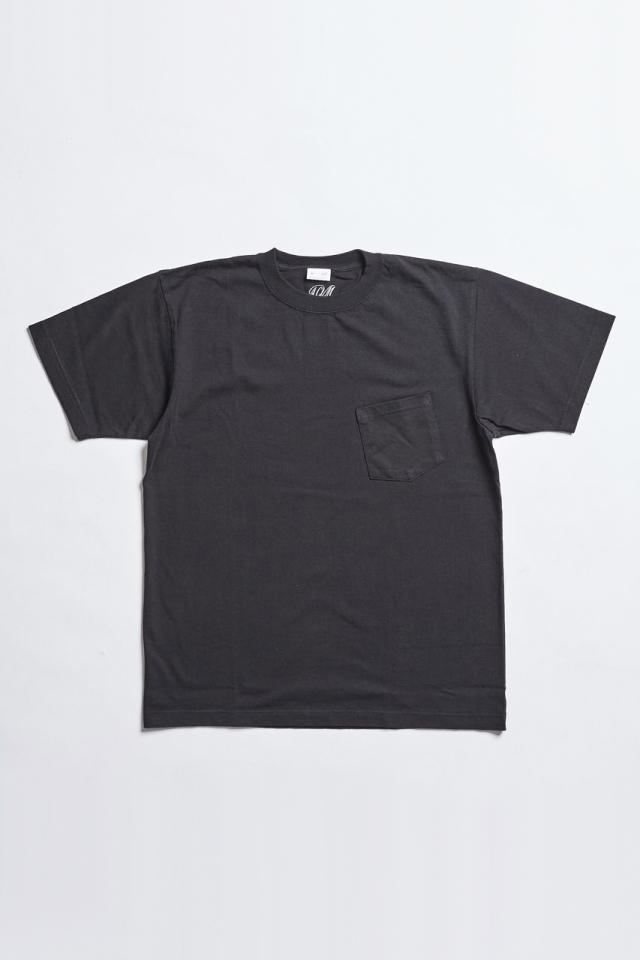 ADDICT CLOTHES JAPAN ACV-CS01 SLANTING POCKET TEE BLACK