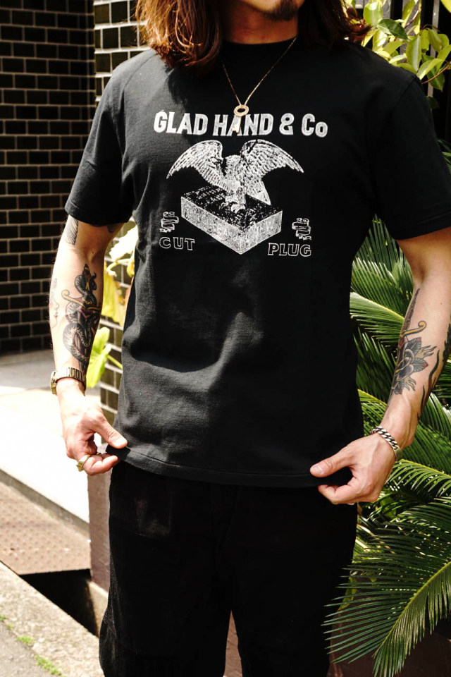BY GLAD HAND FOR SMOKING UNION - S/S T-SHIRTS BLACK