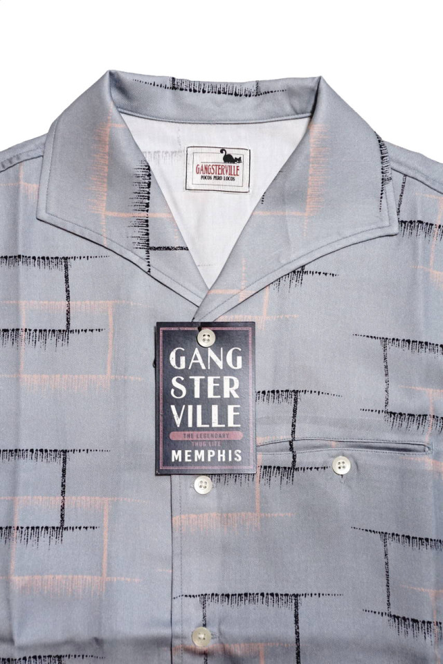GANGSTERVILLE MEMPHIS - S/S SHIRTS GRAY