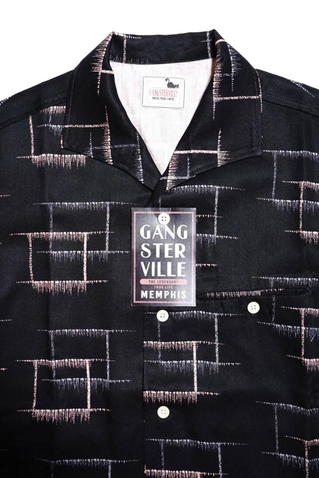 GANGSTERVILLE MEMPHIS - S/S SHIRTS BLACK