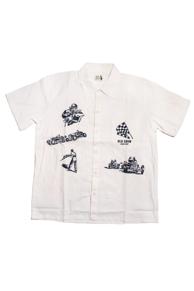 OLD CROW MEMORIES OF RACE - S/S SHIRTS WHITE