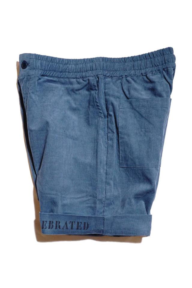BY GLAD HAND GLADDEN - CORDUROY SHORTS BLUE