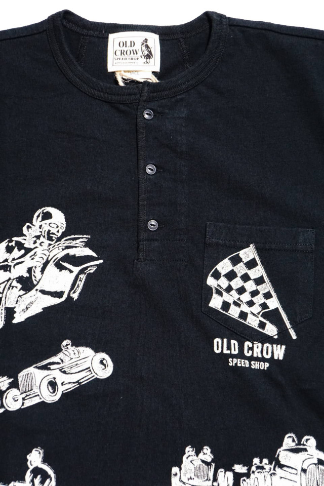 OLD CROW MEMORIES OF RACE - S/S HENRY T-SHIRTS BLACK