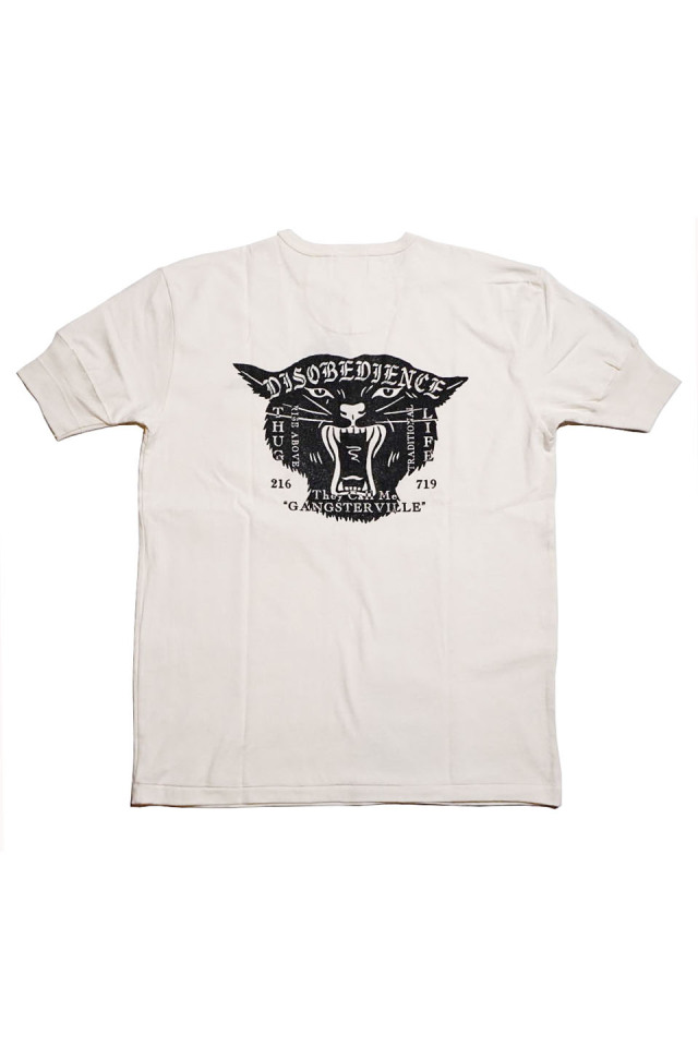 GANGSTERVILLE DISOVEDIENCE - S/S HENRY T-SHIRTS WHITE