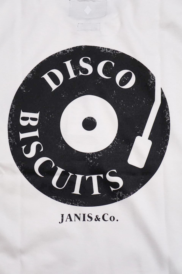 JANIS & Co. #DISCO BISCUITS TEE WHITE