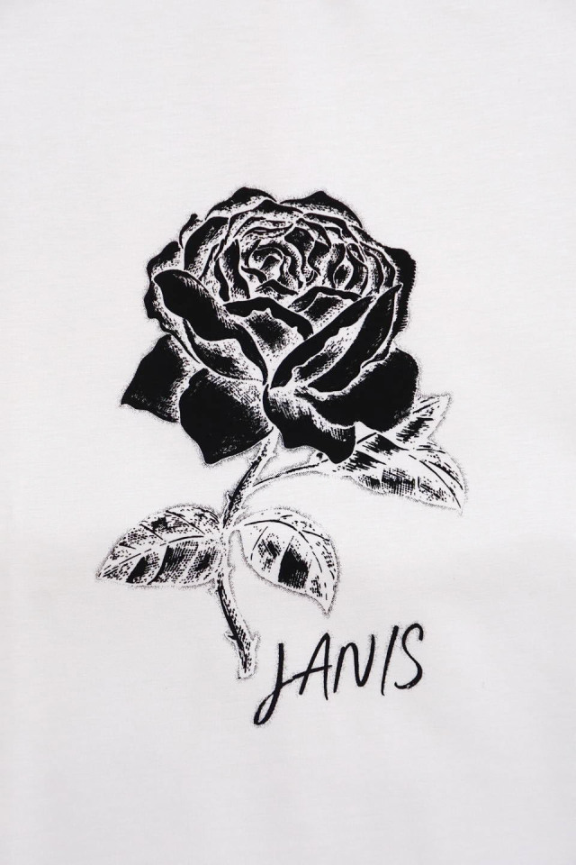 JANIS & Co. #JANIS ROSE TEE WHITE