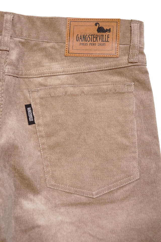 GANGSTERVILLE THUG - SKINNY STRETCH PANTS BEIGE