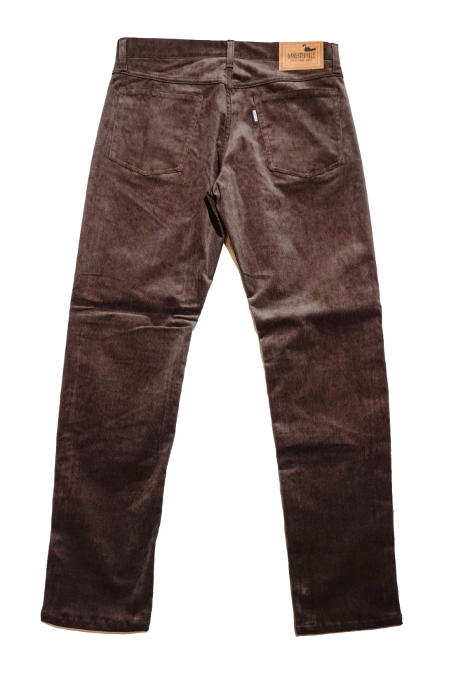 GANGSTERVILLE THUG - SKINNY STRETCH PANTS BROWN